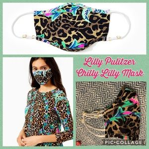 Lilly Pulitzer ChillyLilly Adult Leopard Face Mask